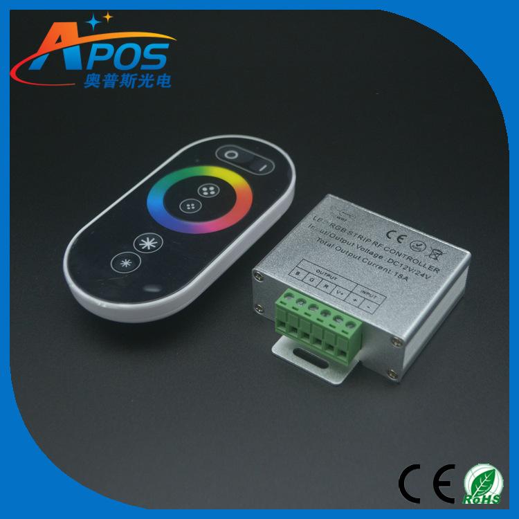 GUMAO Thiết bị điều chỉnh màu Bộ điều khiển cảm ứng LED Ánh sáng RGB với tần số vô tuyến RF không dâ