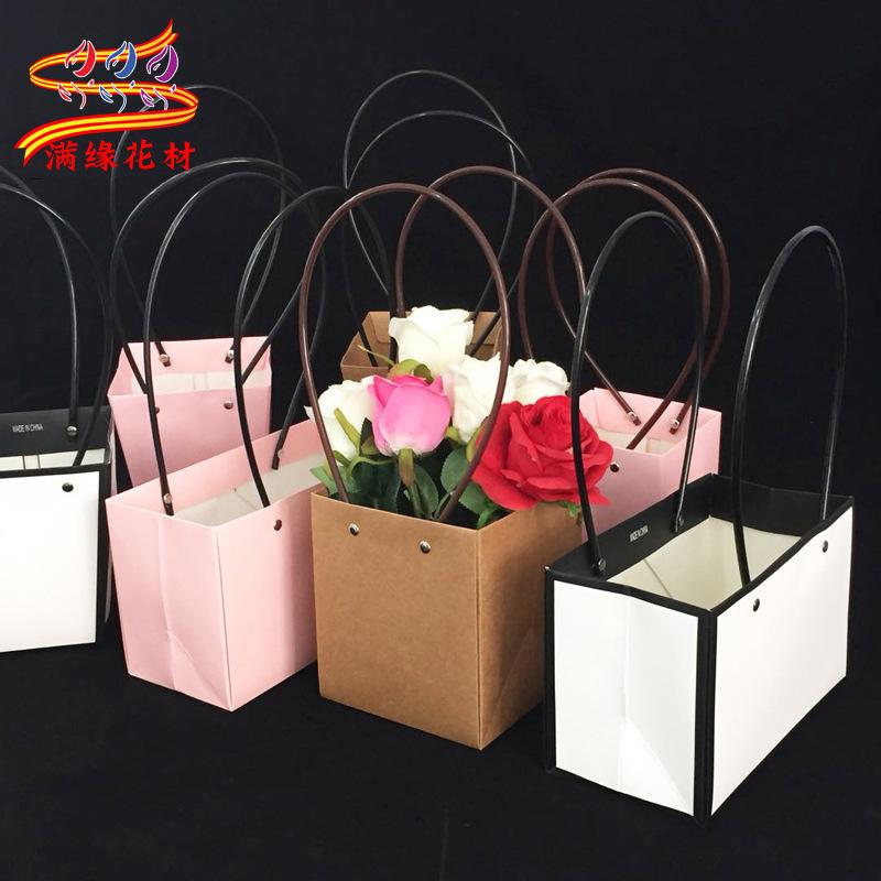 MANYUAN Túi giấy Nhà sản xuất bán buôn xách tay bó hoa quà tặng túi giấy kraft không thấm nước túi t