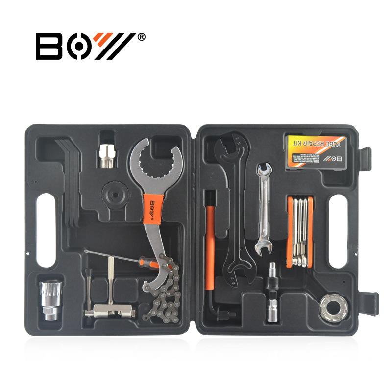 BOY Dụng cụ rửa xe Hộp công cụ Xe đạp Công cụ kết hợp Công cụ Sửa chữa xe đạp Bộ 26 Piece 8010A