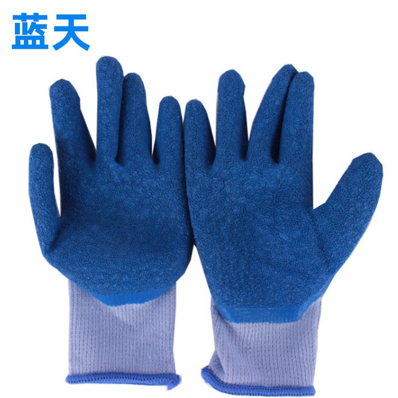 Thị trường bảo hộ lao động Bảo vệ tay cá nhân gạc bông bọc chống trượt treo găng tay cao su chịu dầu
