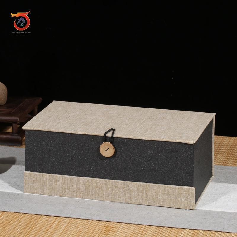 TANGREN Hộp quà tặng Nút bông và vải lanh thổ cẩm bán trực tiếp nhà máy Yi Zisha nồi chè đặt hộp quà