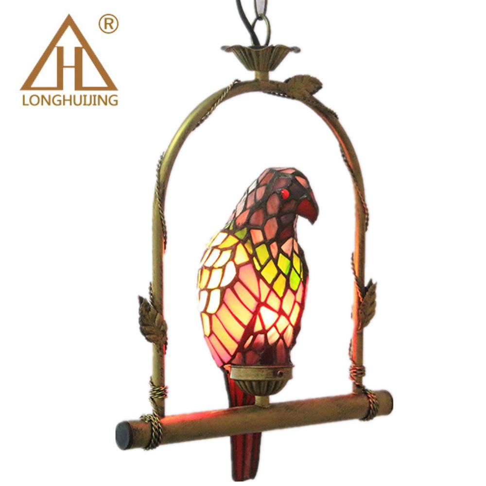 LONGHUIJING Đèn trang trì Đèn sáng tạo con vẹt trang trí đèn chùm nhà sản xuất bán buôn xuyên biên g