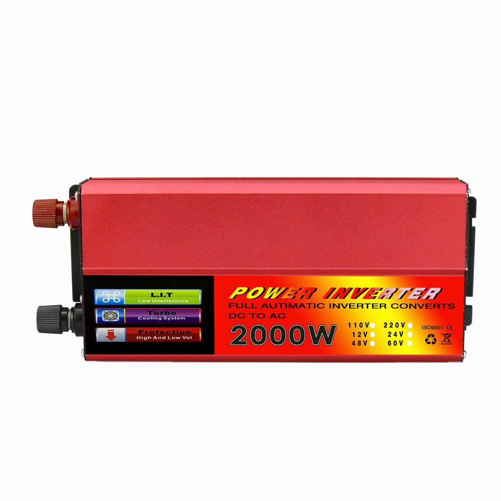DOXIN Thiết bị biến áp Biến tần xe 2000W ắc quy 12 / 24V 48V / 60V đỏ biến tần quang điện phổ biến t
