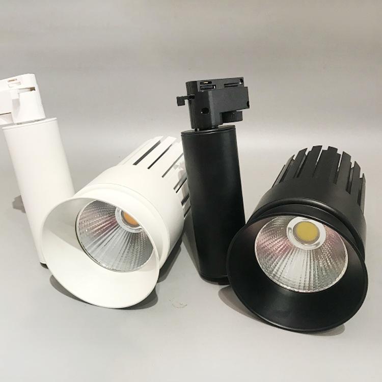 GUANGXIN Đèn LED gắn ray Công suất cao theo dõi ánh sáng led nền tường phòng trưng bày theo dõi spot