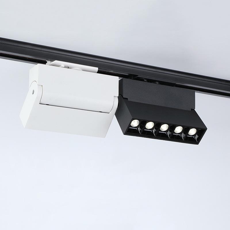 PINGUAN Đèn LED gắn ray Spotlight Folding Spotlight Anti-Dazzling Light Light Bề mặt được gắn Đèn tr