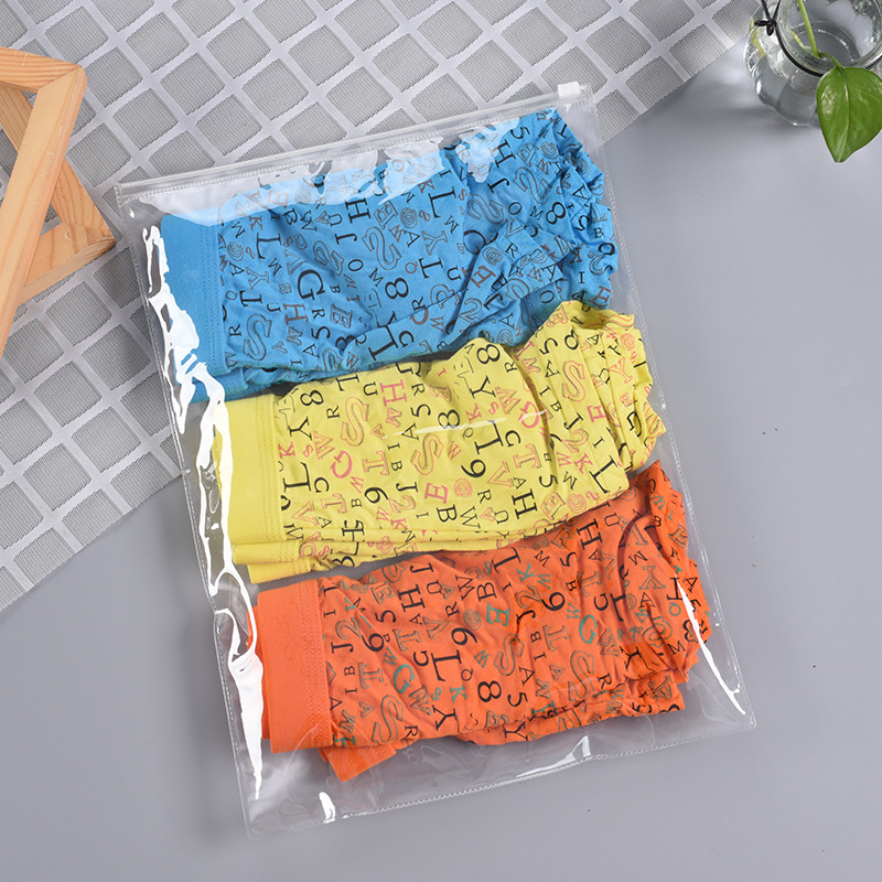 SANZHEN Túi đựng quần lót Chuyên nghiệp tùy chỉnh bao bì đồ lót túi vớ bao bì PVC dây kéo túi PVC zi