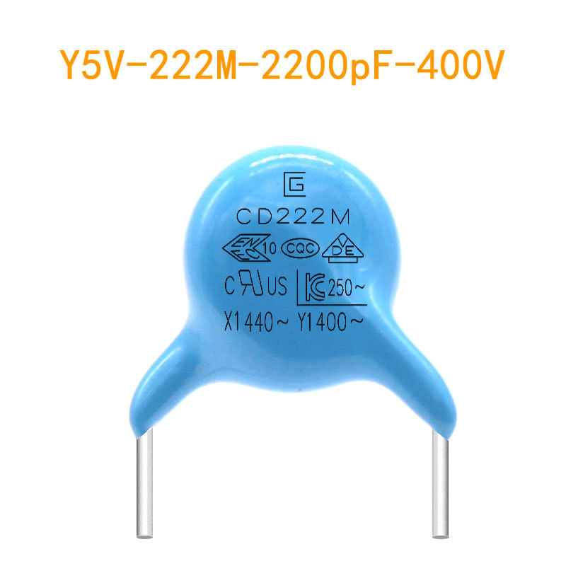 CG Tụ điện Tụ gốm Y5V 222M 400V Y1 tụ 2200pF Tụ gốm Y chứng nhận an toàn tụ điện
