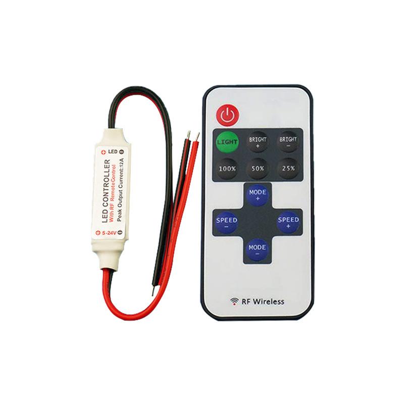 RUIFANG Thiết bị điều khiển đèn Factory Outlet Bộ điều khiển RF Mini LED Đơn sắc Ánh sáng Bộ điều kh
