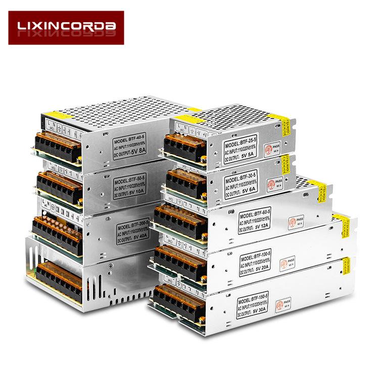 LIXINCORDA Bộ nguồn cho đèn LED Bộ nguồn chuyển đổi nguồn điện từ 220 đến 12 V 12V5A10A20A30A LED đi