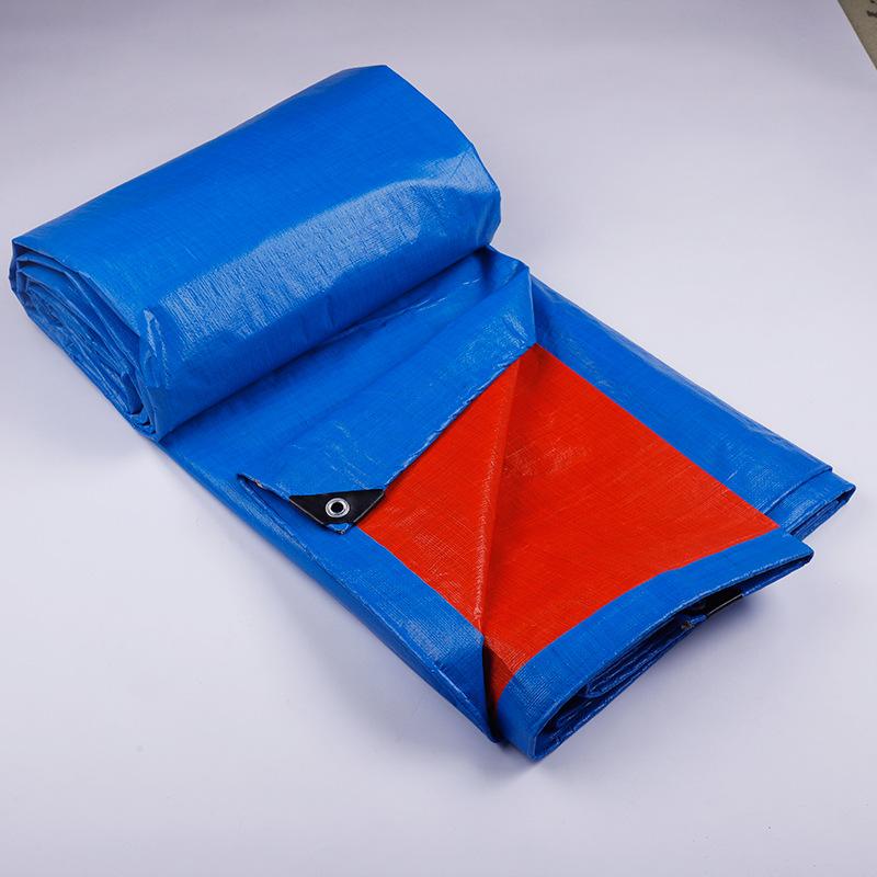 Bạt nhựa Nhà sản xuất vải bạt màu xanh cam vải mưa dày không thấm nước màng vải dệt vải bạt nhựa