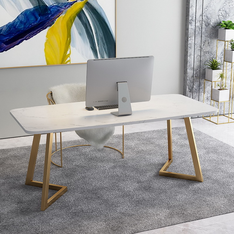Thị trường nội thất văn phòng Bàn làm việc bằng đá cẩm thạch Bắc Âu đơn nhân viên bàn đơn giản máy t