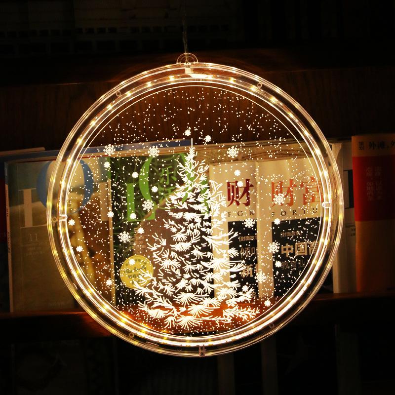 FUQIJIE Đèn trang trì Nguồn gốc của nguồn cung cấp đèn Giáng sinh chuỗi trang trí in mô hình sáng tạ