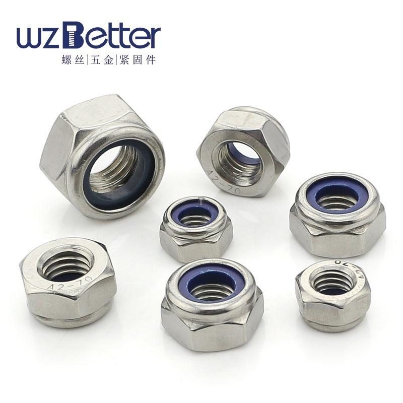 BAITE Tán Các nhà sản xuất Nut bán thép không gỉ locknuts nylon locknuts khóa hạt M2-M30
