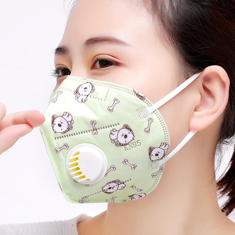 RUIYA Khẩu trang bảo hộ Mặt nạ YHI PM2.5 với van thở chống sương mù và mặt nạ thở ba chiều bảo vệ th