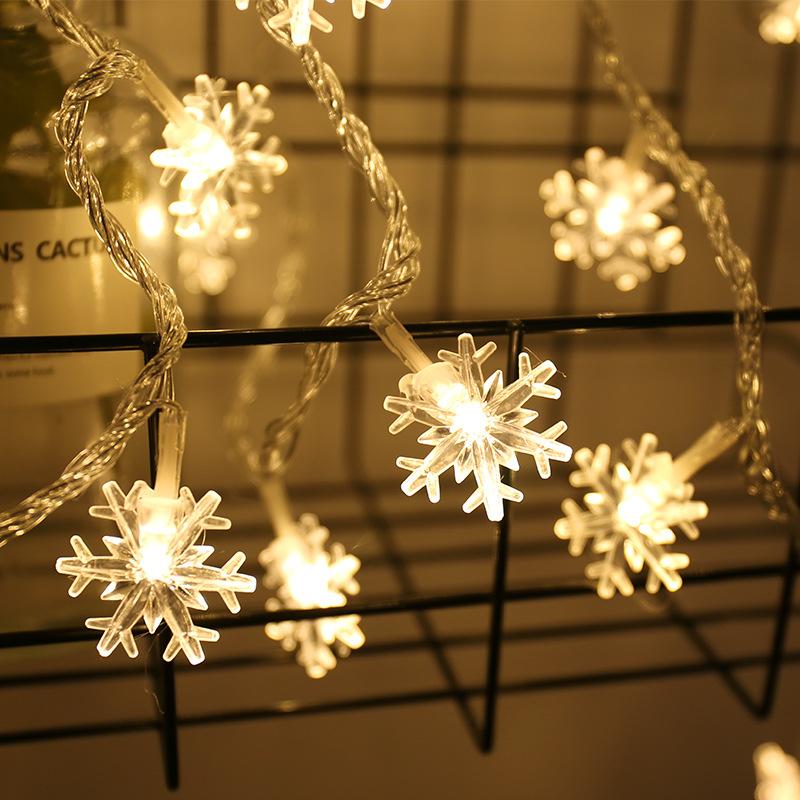 YINGLONG Đèn trang trì Bông tuyết chuỗi ánh sáng led nhỏ đèn lồng sao đèn pin hộp đèn nhấp nháy chuỗ
