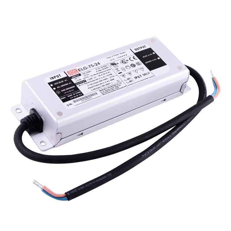 MEAN WELL Bộ nguồn không đổi Bộ nguồn LED chống nước Mingwei ELG-75-12A Bộ nguồn LED Điện áp không đ