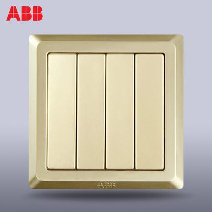Công tắc ABB Thụy Sĩ ổ cắm Deyi vàng bốn công tắc điều khiển mở /AE104-PG