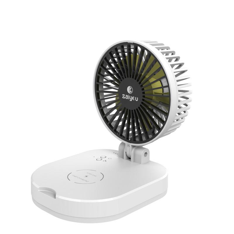 JIASHIHUA Quạt máy Quạt nhỏ có thể gập lại với sạc pin di động nhỏ quạt điện bàn quạt đa năng có sạc