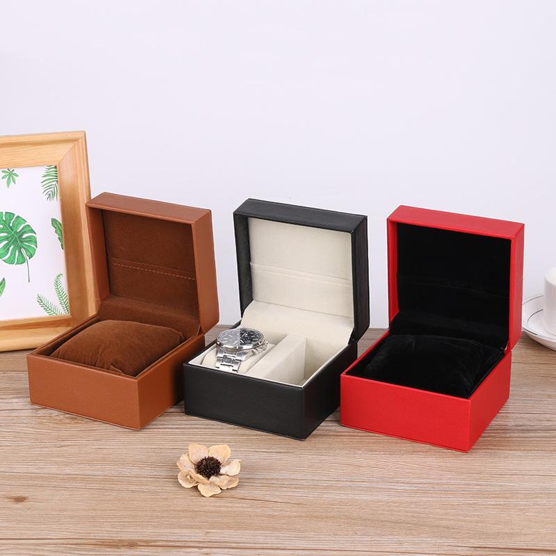 Hộp quà tặng Nhà sản xuất chế biến đồng hồ tùy chỉnh da trường hợp điền da trường hợp hộp đồng hồ nh