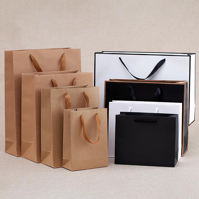 YIDAIKU Túi giấy Bán buôn dày giấy quà tặng giấy kraft túi tùy chỉnh quần áo bao bì mua sắm túi giấy