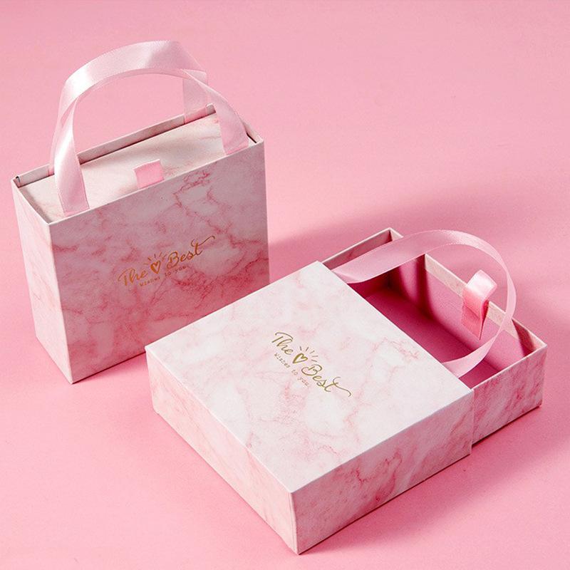 Hộp quà tặng kỳ nghỉ bằng đá cẩm thạch hôn hộp cưới ngăn kéo hộp quà tặng hộp quà tặng tùy chỉnh hộp
