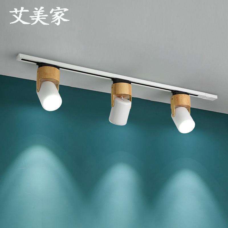 MEIZHICHEN Đèn LED gắn ray Gỗ Bắc Âu led bề mặt gắn đèn downlight cửa hàng hộ gia đình nền tường chi
