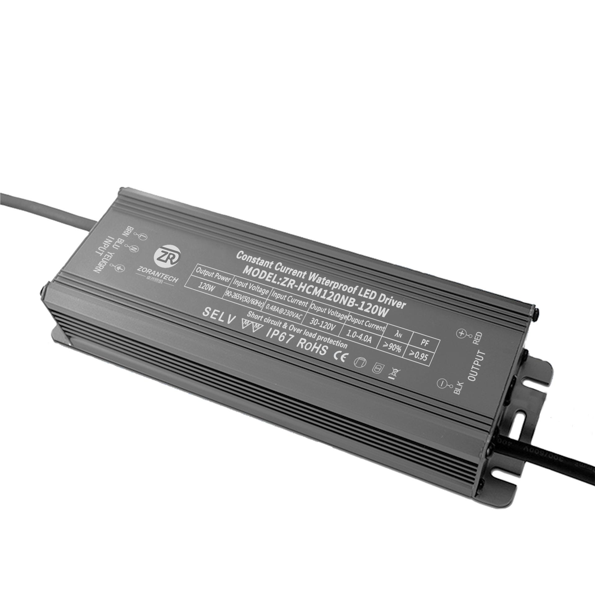 ZORANTECH Bộ nguồn không đổi Bán buôn ổ đĩa LED công suất 120W Đèn lũ hiện tại không đổi Ổ đĩa LED n