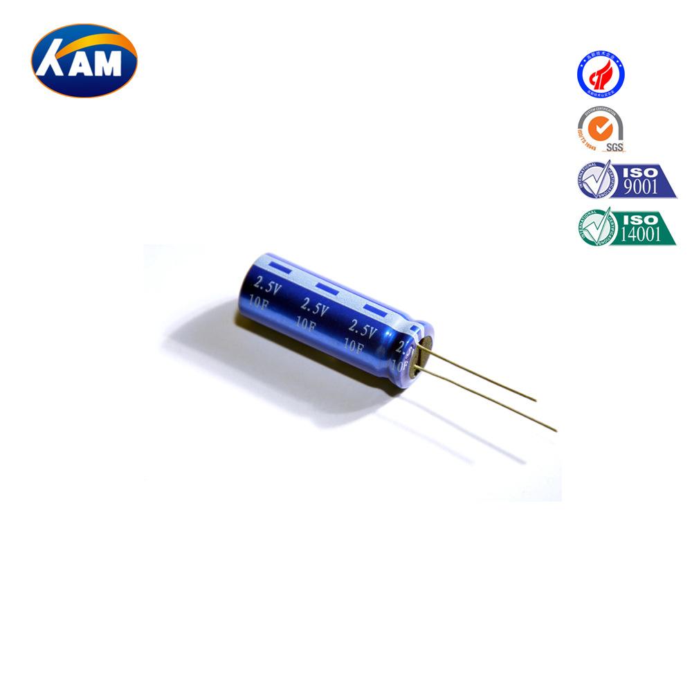 KAM Tụ điện Các nhà sản xuất cung cấp siêu tụ điện 10F / 2.7V và tụ điện farad