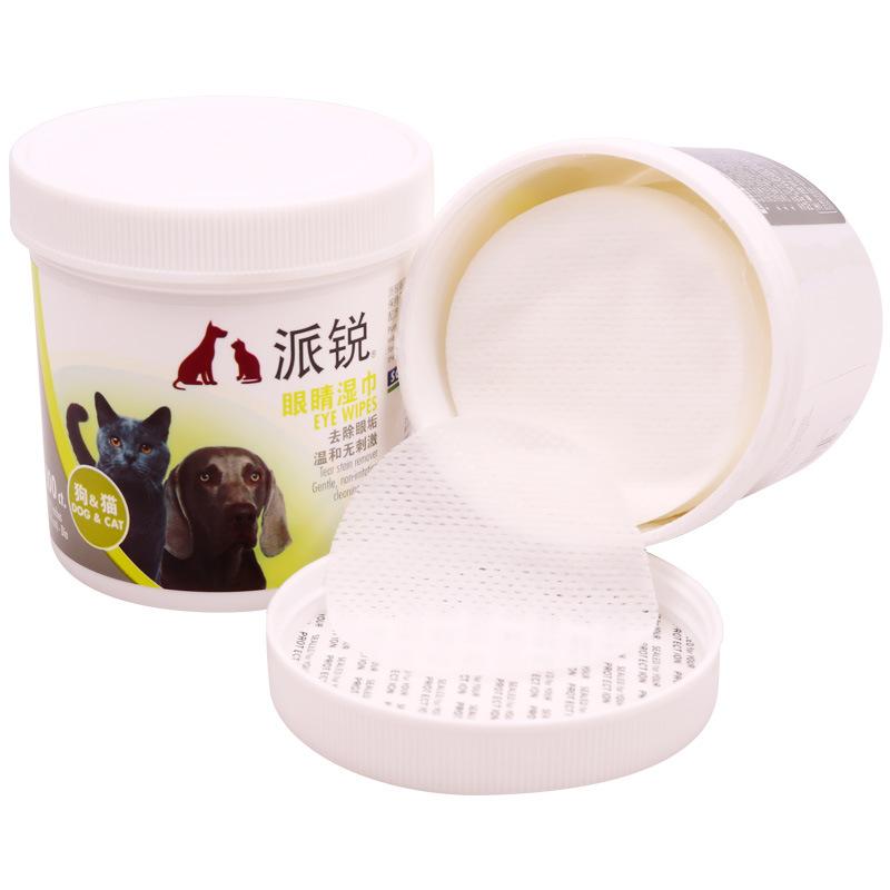 PETCIRCLE Vật nuôi Khăn lau thú cưng Khăn lau gấu bông Xiong Bomei Cat Eye Tear Stain Cleansing Pape