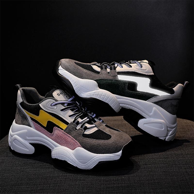 giày bánh mì / giày Platform 2020 giày thể thao mới cộng với nhung mùa thu giày của phụ nữ dày đáy g