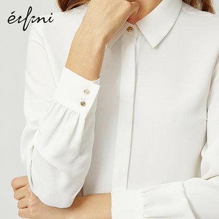 Evelyn  Áo Sơmi  Áo sơ mi nữ Evelyn 2020 mùa xuân mới dài tay áo rộng Hàn Quốc chuyên nghiệp áo voan