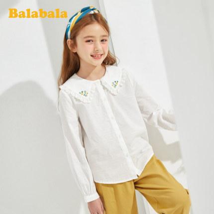 Balla Áo Sơ-mi trẻ em Áo sơ mi nữ Balla Áo sơ mi nữ tay dài mùa xuân 2020 Quần áo trẻ em nữ cotton n