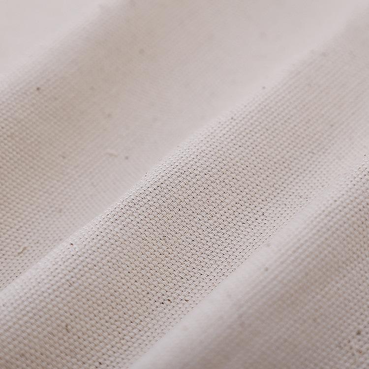 QIYAO Vải Cotton mộc Nhà máy bán hàng trực tiếp 10 sợi Martin vải cotton màu xám vải màu trơn dệt vả