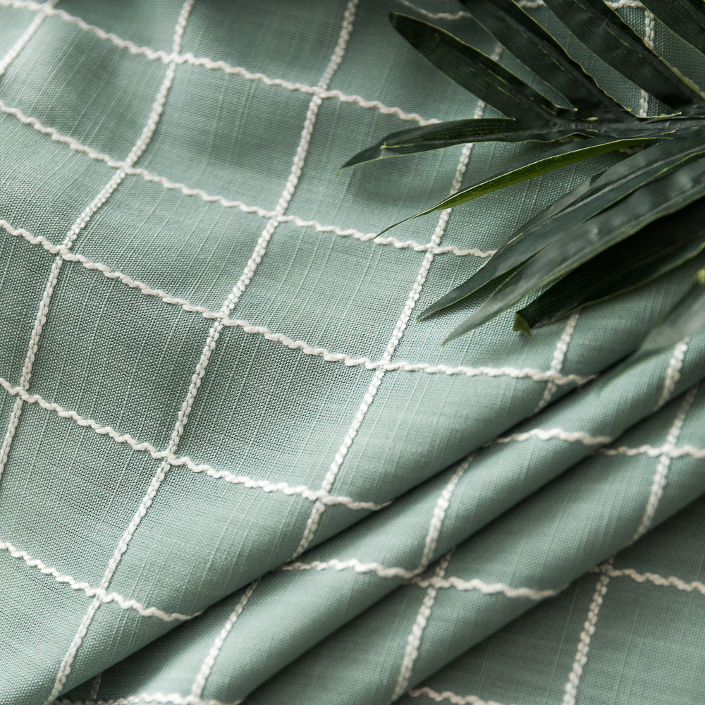 Vải Cotton pha 2019 Mới Kẻ sọc Jacquard Khăn trải bàn Vải Nhà máy Bán trực tiếp 2,8m Vải rộng Vải la
