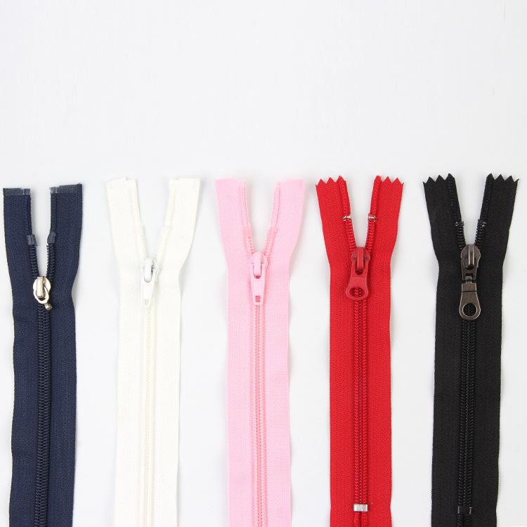YUQIANG Dây kéo Nylon Puning nhà sản xuất bán buôn quần áo mở nylon dây kéo quần áo 5 # dây kéo than