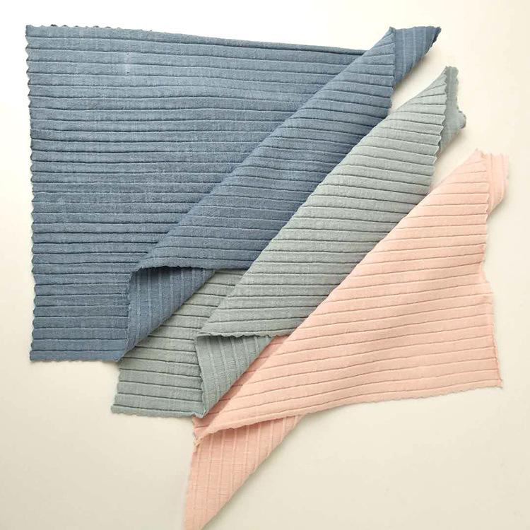 CHANGRUN Vải Rib bo Hợp thời trang 40S Tre Slub Vải gân Vải Lycra Vải dệt kim Vải dệt kim Rib