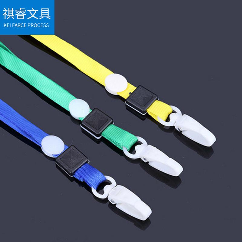 QIRUI dây đeo Móc nhựa 1.0cm đặt dây buộc giấy phép làm việc dây buộc dây ruy băng dây đeo huy hiệu