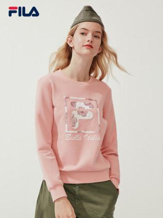 Sweater (Áo nỉ chui đầu)  Áo nỉ nữ chính thức của FILA 2020 mùa xuân mới in áo thun cổ tròn giản dị