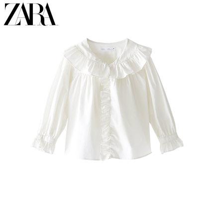 ZARA Áo Sơ-mi trẻ em quần áo trẻ em mới cho bé gái mùa xuân và mùa hè áo mới trang trí ngực 01037119