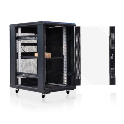 LAIE Cán nguội Chất lượng cao tấm cán nguội 1 mét tủ máy chủ 1000 * 600 * 800 máy chủ tủ 18U máy chủ