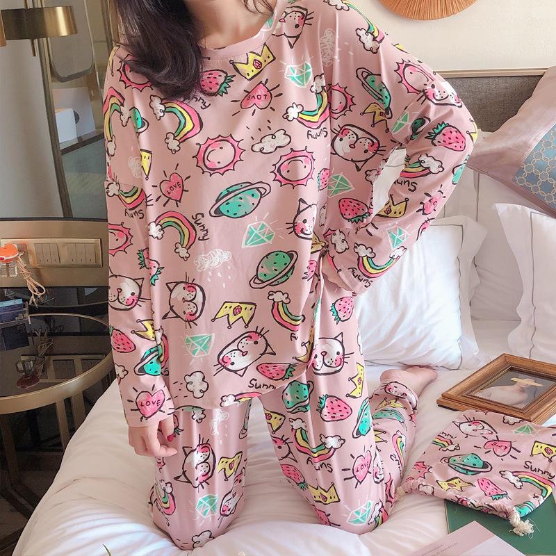 Đồ ngủ 2019 New INS Little Fairy Pyjama Home Service Set wg