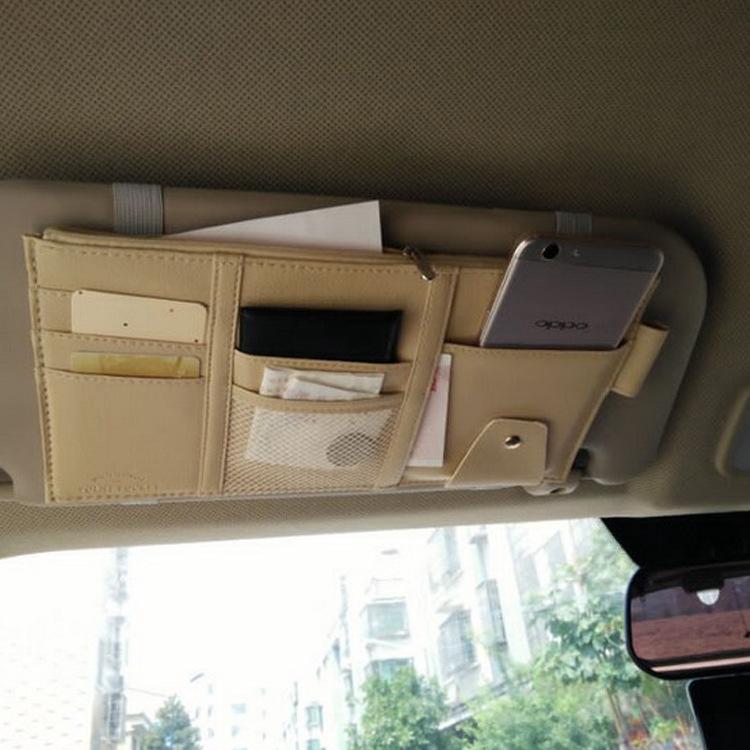 Tấm che nắng treo kính xe hơi dùng đựng thẻ ,giấy chứng nhận lái xe , v.v...