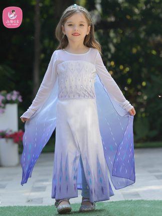 Trang phục dạ hôi trẻ em Váy bé gái Váy công chúa Aisha đông lạnh 2020 Mùa xuân mới thiếu nhi Yêu vá