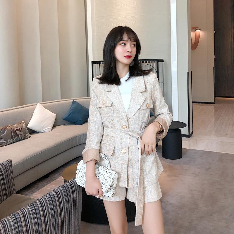 Đồ Suits ANNA xuân 2019 chic blazer + quần short giản dị nước hoa phù hợp với phụ nữ