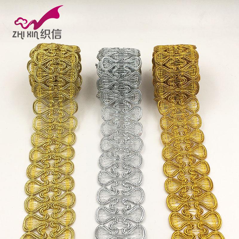 ZHIXIN ren viền 2018 mẫu mới nổ hai mặt bướm ren vàng bạc tại chỗ bán buôn