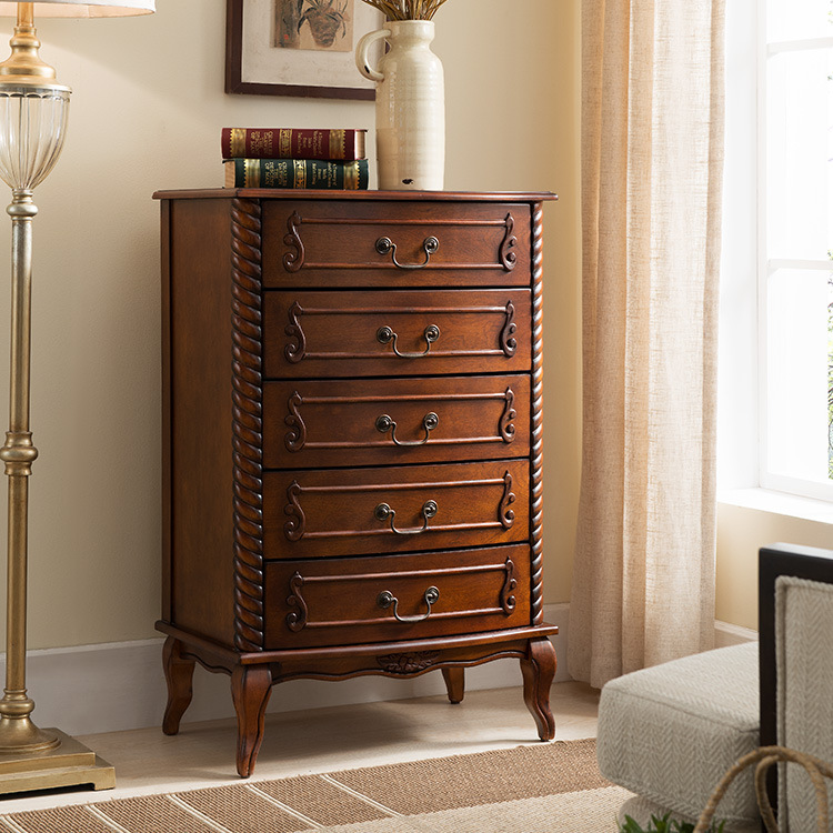 Growdear Nội thất Nhà máy sản xuất đồ nội thất Mỹ Tủ gỗ rắn Mỹ của tủ ngăn kéo phòng ngủ tủ lưu trữ