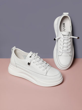 giày bánh mì / giày Platform Giày nữ trắng Belle 2020 mùa xuân trung tâm mua sắm mới với cùng một đô