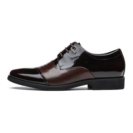 Giày da một lớp  Giày chuồn chuồn đỏ nam 2020 mùa xuân mới kinh doanh giày công sở da thoải mái giày