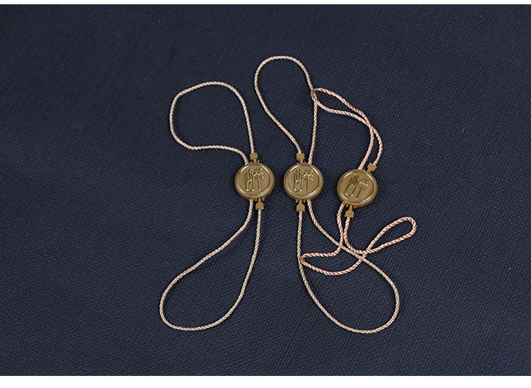 QIYUE Chuỗi tag , Tag logo Tùy chỉnh hạt treo quần áo Tag treo dây phổ quát hạt treo hạt tùy chỉnh t