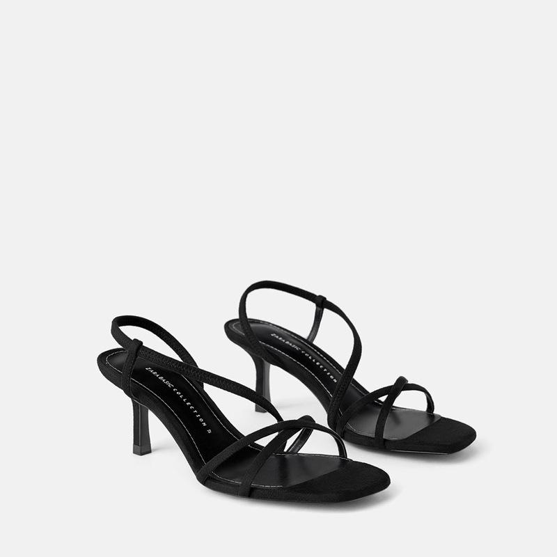 YIRUINI Thị trường giày nữ ZA2019 từ hè mới với sandal nữ hoang dã thời trang đơn giản da lộn giữa g